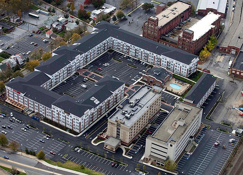 Wyomissing Square Mixed-Use Center Aerial