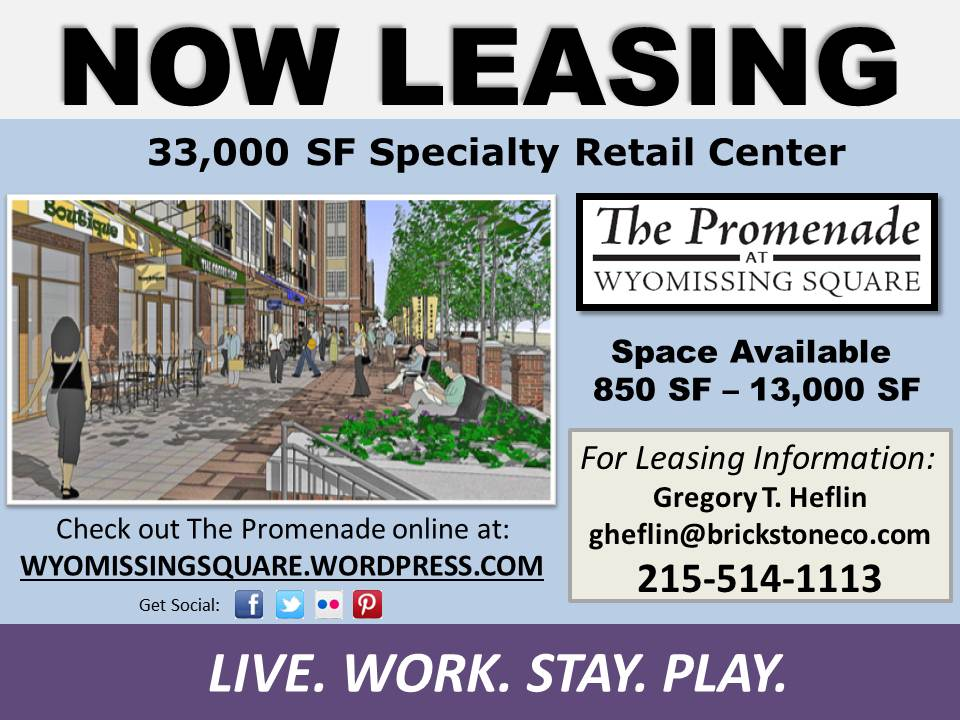 Click the flyer for more information about leasing retail space at the The Promenade